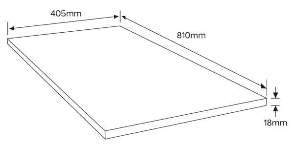 panneau bois mdf 810 x 405 mm p 18 mm brico d p t. Black Bedroom Furniture Sets. Home Design Ideas