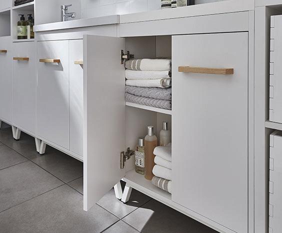 Meuble Sous Vasque A Poser Blanc L 60 Cm Ladoga Goodhome