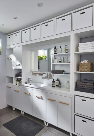meuble sous vasque poser blanc cm ladoga brico d p t. Black Bedroom Furniture Sets. Home Design Ideas