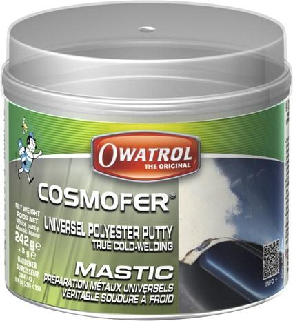 enduit mastic multi usages en polyester 250 g rustol owatrol
