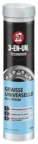 Graisse Universelle Au Lithium 3 En Un Technique Cartouche 400g Brico Depot