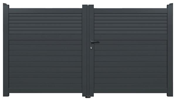 Portail Aluminium Gris Anthracite Vento L 3 06 X H 1 60 M Brico Depot