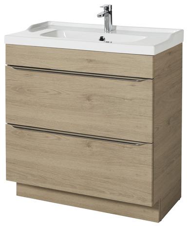 Meuble sous vasque poser imitation ch ne l 80 cm imandra brico d p t - Meuble sous vasque 80 cm ...