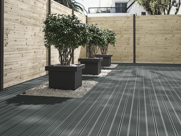 lame de terrasse composite grise oder l 2 20 m x l 14. Black Bedroom Furniture Sets. Home Design Ideas
