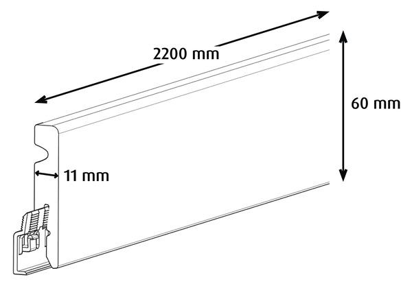 plinthe pvc gris fonc 233 220 x haut 6 cm x 233 p 11 mm brico d 233 p 244 t
