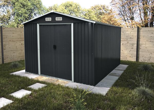 Abri De Jardin Metal Gris 9 M Brico Depot