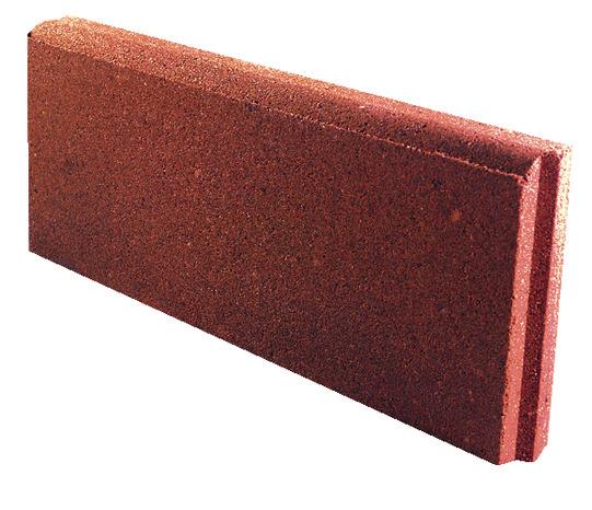 Bordure Beton Rouge Larg 50 Cm X Haut 20 Cm X Prof 5 Cm Brico Depot