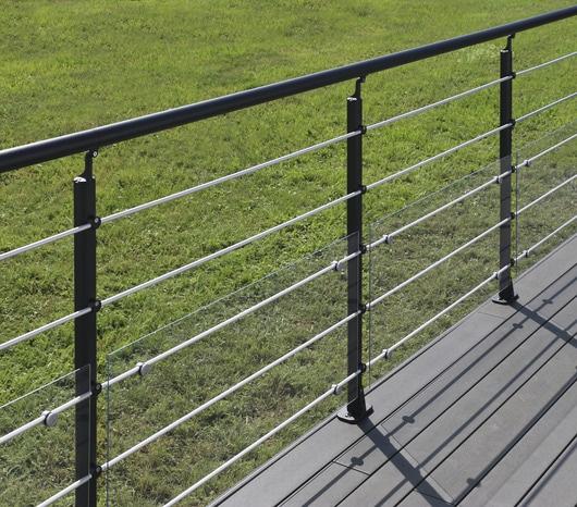 Kit Balustre Aluminium Noir Anthracite Sable 2 M Brico Depot