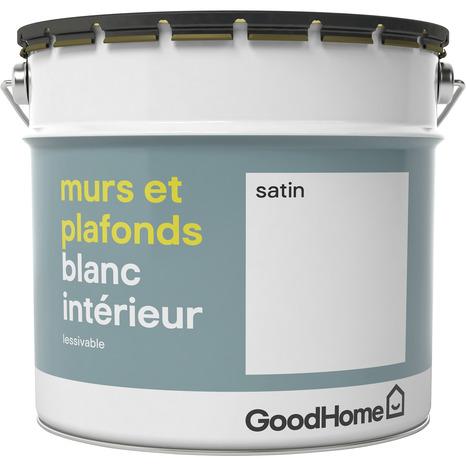 Peinture Blanche 10 L Satin Goodhome