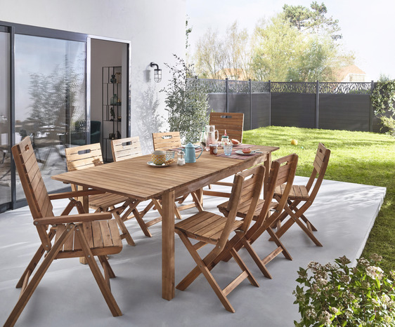 Stunning Table De Jardin Extensible Pol Images - House ...