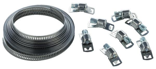 kit colliers de serrage 8 attaches bande brico d p t. Black Bedroom Furniture Sets. Home Design Ideas