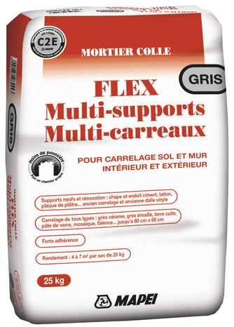 Mortier Colle Flex Multi Support Gris Le Sac De 25 Kg Brico Depot