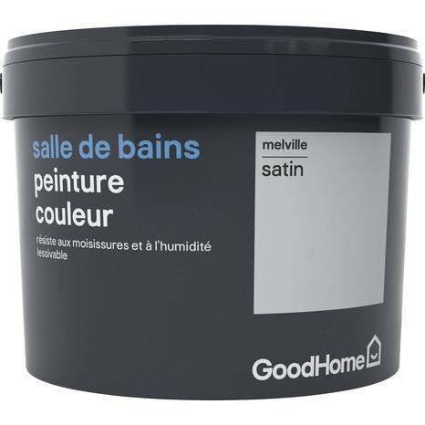Peinture salle de bains acrylique satin gris Melville2,5 l - GoodHome