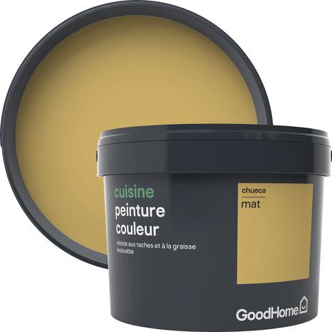 Peinture cuisine acrylique mat jaune chueca 2 5 l brico Peinture cuisine jaune