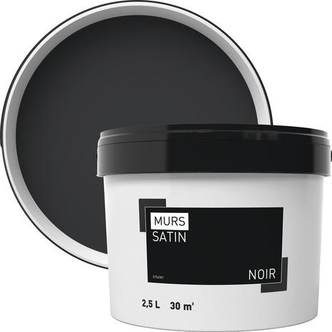 Peinture Murale Intérieure Acrylique Satin Noir 2 5 L