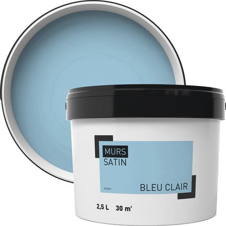 Peinture Murale Intérieure Acrylique Satin Bleu Clair 2 5 L