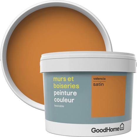 Peinture Murs Et Boiseries Intérieure Acrylique Satin Orange Valencia 2 5 L Goodhome