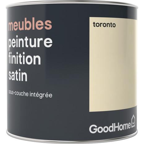 Peinture De Rénovation Meubles Acrylique Satin Blanc Cassé Toronto 0 5 L Goodhome