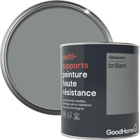 Peinture Haute Resistance Multi Supports Acrylique Brillant Gris Delaware 0 75 L Brico Depot