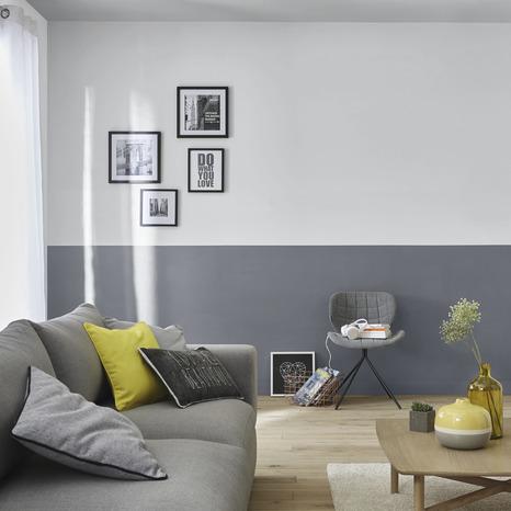 Testeur Peinture Murs Et Boiseries Intérieure Acrylique Satin Gris Hamptons 50 Ml Goodhome