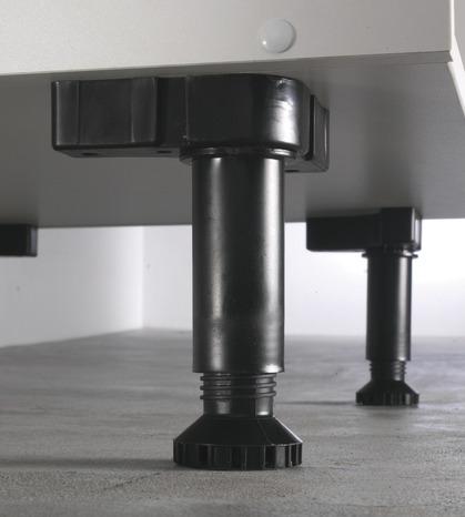 lot de 2 pieds chrom s brico d p t. Black Bedroom Furniture Sets. Home Design Ideas