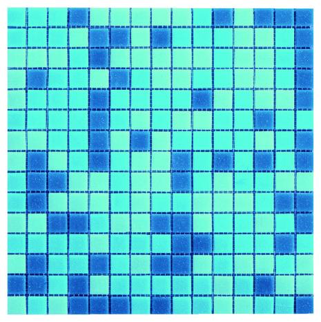 Mosaïque Sur Filet Atlantic Bleue