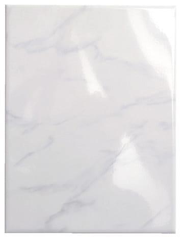 Faience Marbre Carrara Aspect Brillant Pour Salle De Bain 25x33 Cm
