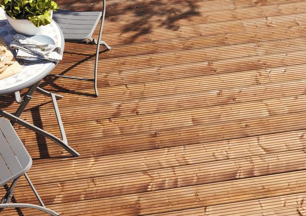 lame de terrasse lemhi pin nordique brun  brico dépôt