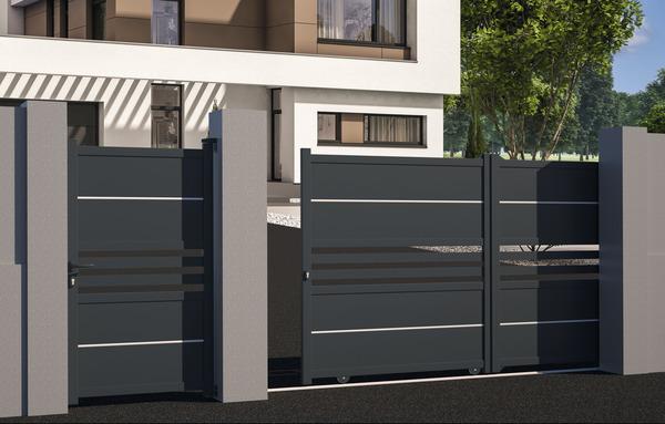 Portail Coulissant Aluminium Ribas L 3 50 X H 1 70 M Brico Depot