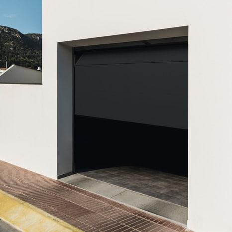 Porte De Garage Sectionnelle Motorisee H 200 Cm L 240 Cm Grise Brico Depot
