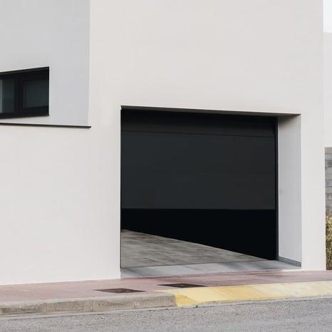Porte De Garage Sectionnelle Motorisee H 200 Cm L 300 Cm Grise