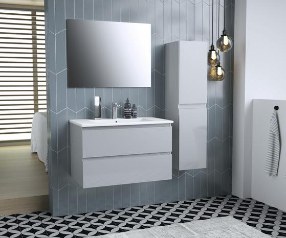 Meuble Trudy 80 Cm Plan Vasque Miroir L Ensemble Brico Depot