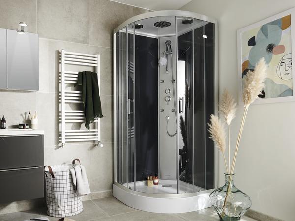 """cabine de douche hydromassante """"onega"""" 90 x 90  brico dépôt"""
