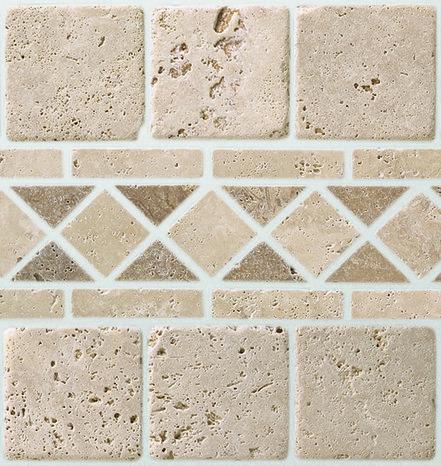 Mosa que pierre naturelle travertin beige 30x30 cm carreau for Carrelage 30x30 beige