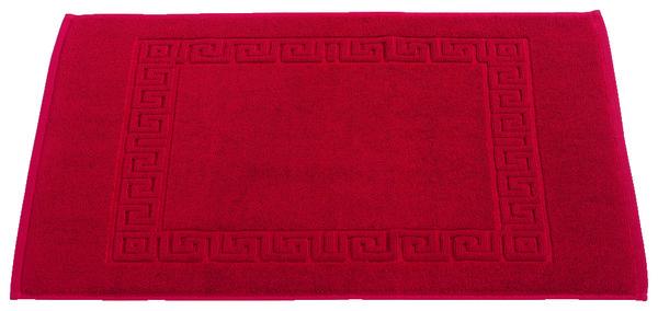 tapis de bain rouge en coton ponge 50x70 cm brico d p t. Black Bedroom Furniture Sets. Home Design Ideas