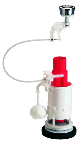 m canisme pour wc conomiseur d 39 eau double bouton poussoir avec robinet silencieux brico d p t. Black Bedroom Furniture Sets. Home Design Ideas
