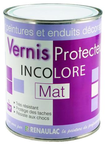 Vernis protecteur incolore mat pour peintures effet et enduits d coratifs des murs int rieurs for Peinture sur vernis bois