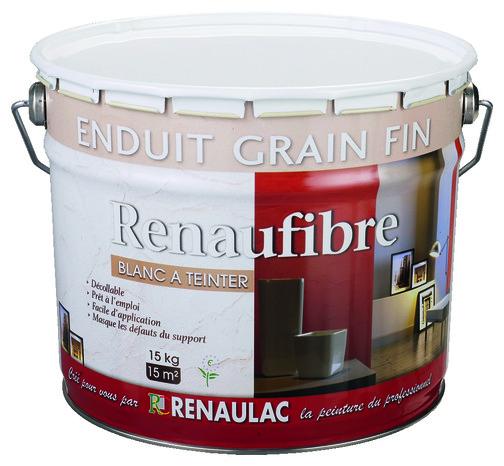 Enduit murs int rieurs grain fin l 39 ancienne blanc 15 kg brico d p t - Enduit joint placo brico depot ...
