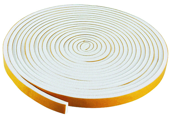 Mousse pvc adh sive larg 10 mm blanc long 5 m brico for Isolant fenetre adhesif