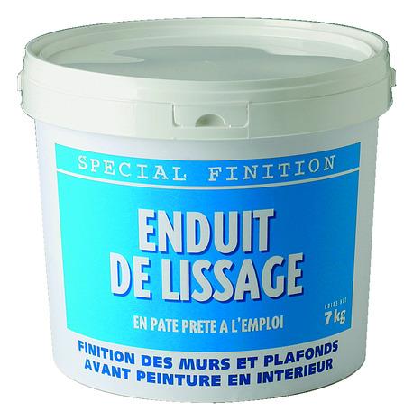 Enduit de lissage en p te seau de 7 kg brico d p t for Enduit de lissage interieur