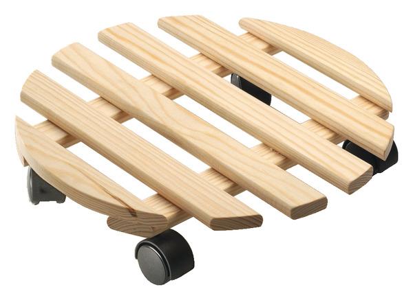support roulant en pin 4 roulettes pivotantes rayon 35 cm brico d p t. Black Bedroom Furniture Sets. Home Design Ideas