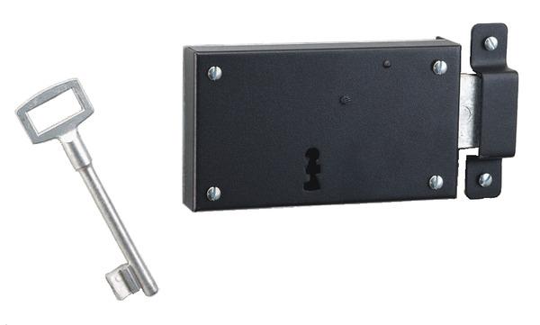 serrure en applique horizontale laqu e 140x80 mm pour. Black Bedroom Furniture Sets. Home Design Ideas