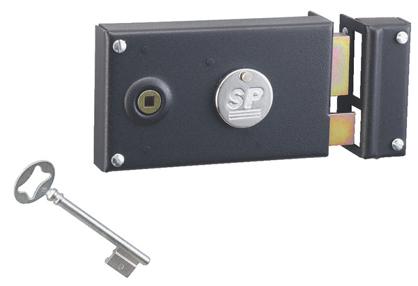 serrure en applique horizontale pour porte int rieure droite 140x80 mm brico d p t