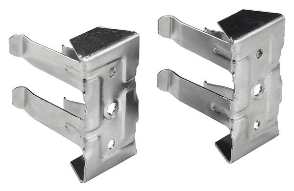 2 Clips En Acier Zingu Pour Fixation De Plinthe Handix Brico D P T