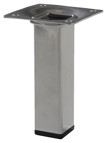 Pied carr en acier gris alu 25x25 mm h 100 mm brico d p t - Tube carre acier brico depot ...