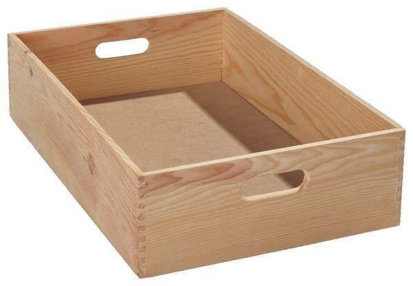 caisse en bois pour rangement d 39 atelier 40x30x15 cm brico d p t. Black Bedroom Furniture Sets. Home Design Ideas