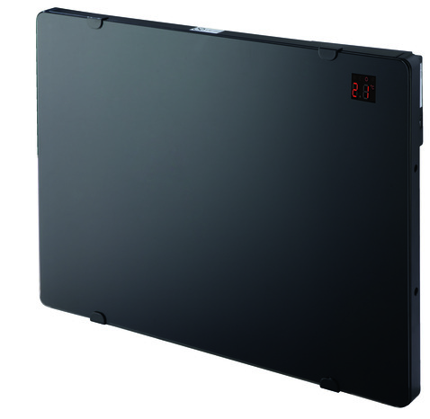 panneau rayonnant verre noir programmable 1500w 1 500 w h 45 2 x l 82 cm brico d p t. Black Bedroom Furniture Sets. Home Design Ideas