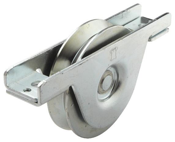 Roue gorge encastrer en zinc blanc 90 mm brico d p t - Roue pour portail coulissant ...