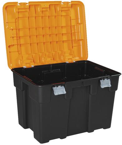 coffre de rangement explorer 185 l orange noir brico d p t. Black Bedroom Furniture Sets. Home Design Ideas