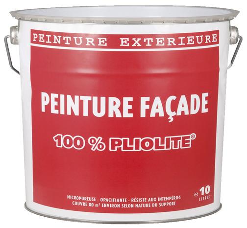 Fa ade pliolite 10 l blanc brico d p t - Peinture facade exterieure pliolite ...